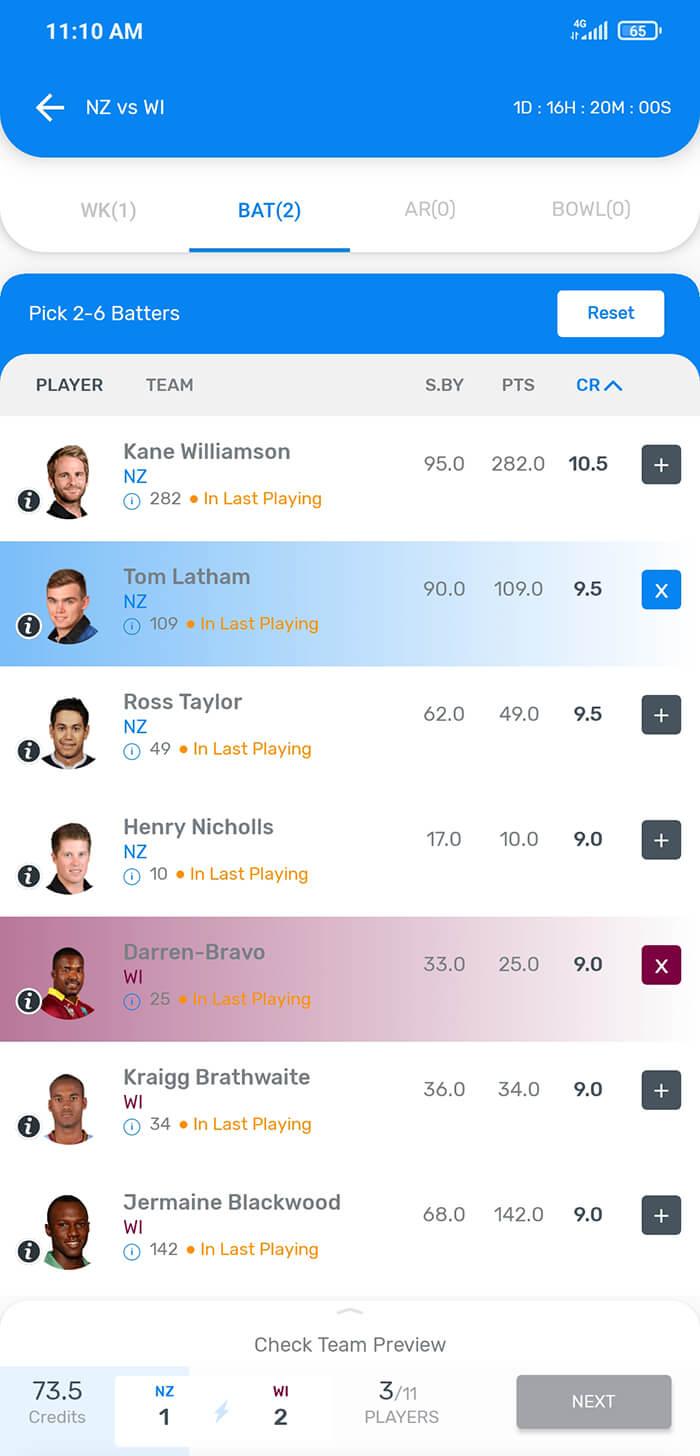 myteam11 android app create team